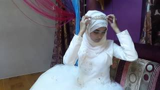 Simple Bridal Look With Hijab Snow White