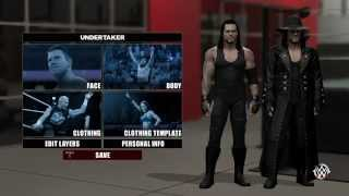 WWE 2K15 Undertaker (Long Hair) Tutorial Caw