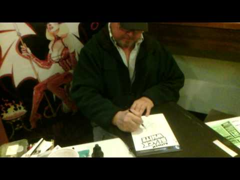 Tim Vigil draws THE JOKER at SAC CON 2014