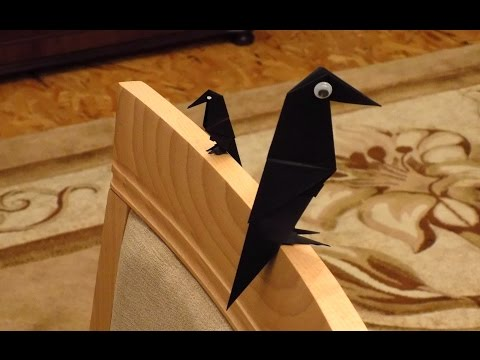 Оригами схемы ворона