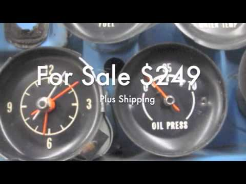 2012 Corvette For Sale >> 1972 1973 1974 Corvette Gauge Cluster Fuel Water Temp Oil ...