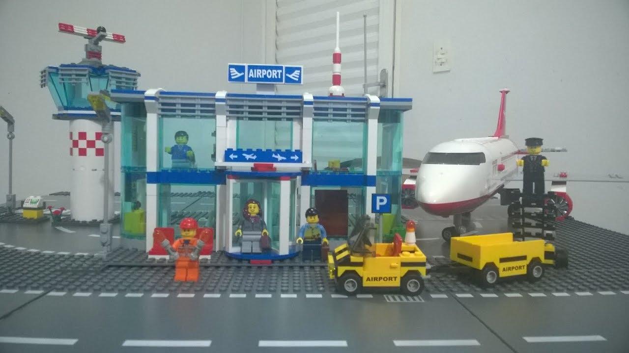 Aeroporto Lego : Lego city aeroporto airport revisão em português youtube