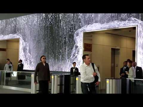 Glorious Indoor Waterfall!! Salesforce Lobby, San Francisco