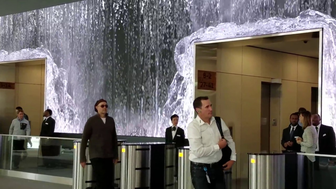 Glorious Award Winning Waterfall Salesforce Lobby San