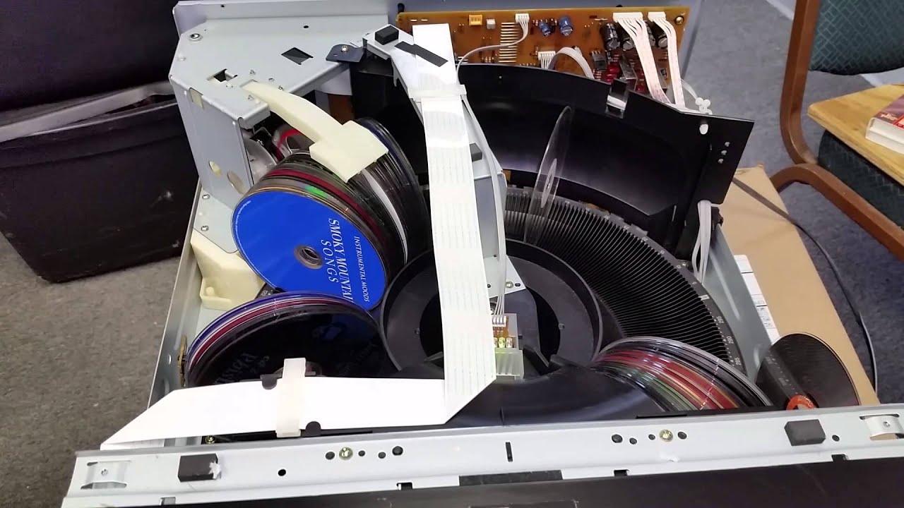 Sony Compact Disc Multi Player 300 CD Carousel Mega Storage - CDP-CX355