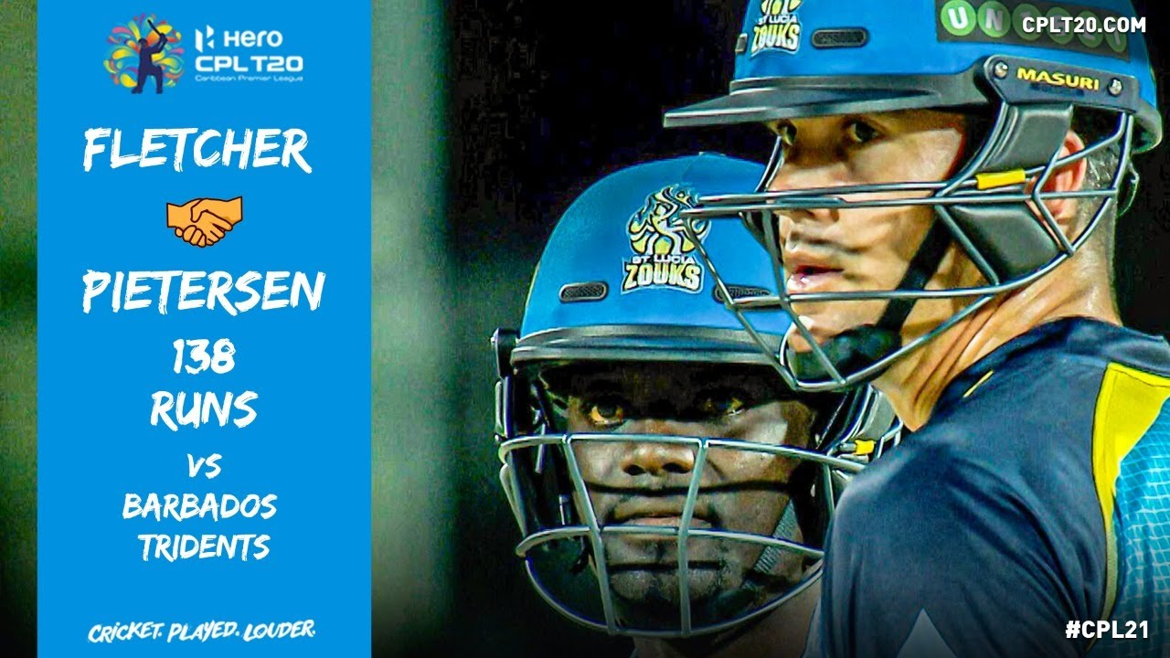 Andre Fletcher & Kevin Pietersen SMASH the Barbados Tridents bowling attack for 138 runs!