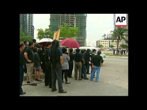 PHILIPPINES: MANILA: EMPLOYEES PROTEST OUTSIDE ADB BANK HQ