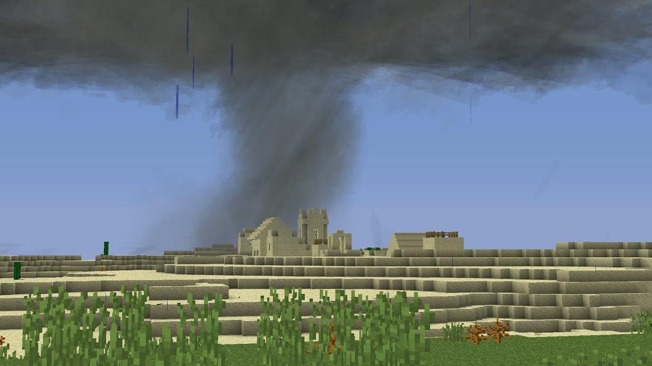 майнкрафт гіганський торнадо видио #8