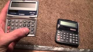 Canon LS-555H vs. Casio SL-100L calculator