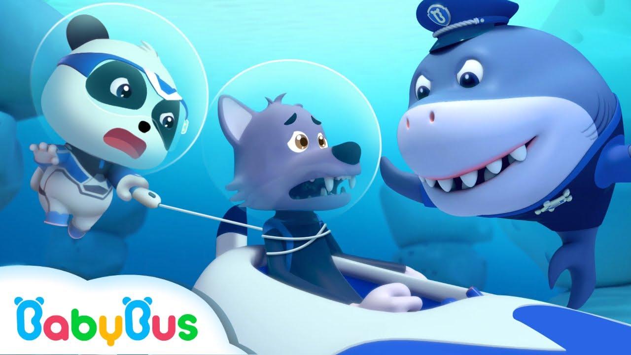 Sheriff Tiburón y el Lobo Feroz | Dibujos Animados Infantiles | Súper Equipo de Rescate | BabyBus