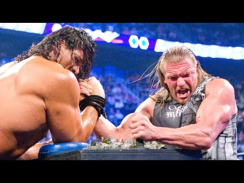 Thumbnail: Triple H battles The Great Khali in Indian Broken Glass Arm Wrestling match: SmackDown, Aug.8, 2008