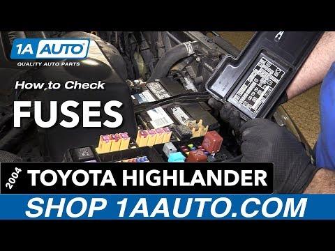 [SCHEMATICS_4JK]  How to Replace Fuses 00-07 Toyota Highlander - YouTube | 2006 Highlander Hybrid Fuse Box Location |  | YouTube