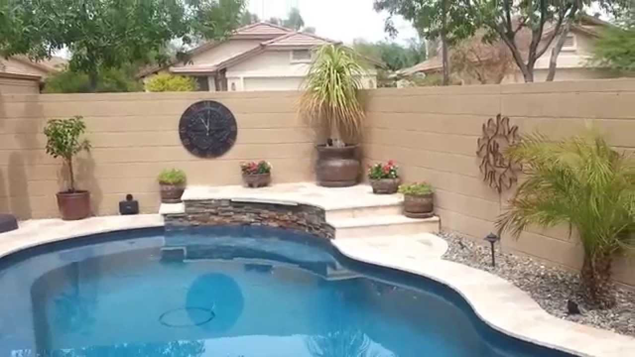 Small yard pool project - Huge transformation! - YouTube