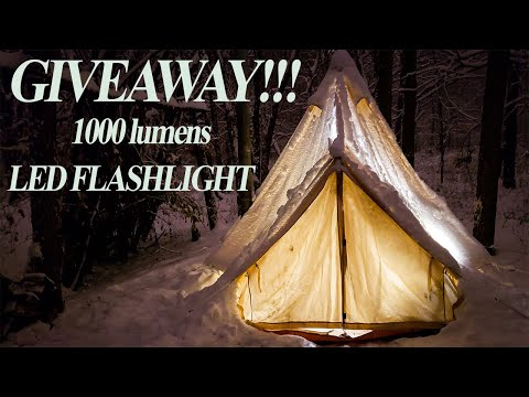 GIVEAWAY At The CANVAS CABIN TENT.  Thanks A MILLION.