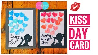 3D Valentine's Day Card/Handmade Valentines Day Card/L.O.V.E.Greeting Card/Kiss Day Card/Pop up card