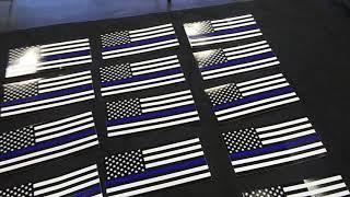 Thin Blue Line Bumper Stickers \ Window Decals $5.00 Militarysurplusllc.com