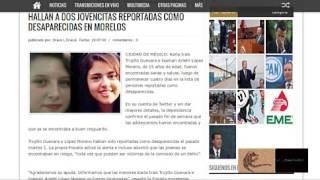 Encuentran a salvo a 2 jovencitas desaparecidas en Morelos