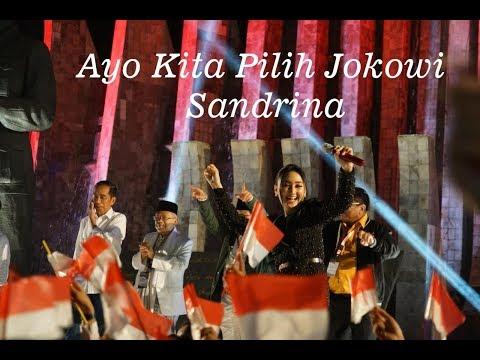 Sandrina Ayo Pilih Jokowi - Sandrina