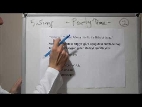 İngilizce Test Teknikleri   5. Sınıf 7. Ünite (Party Time)