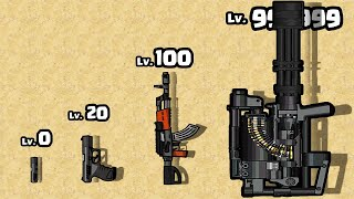 I assembled a GUN PART to THE STRONGEST RIFLE MINIGUN in Gun Run 3D!