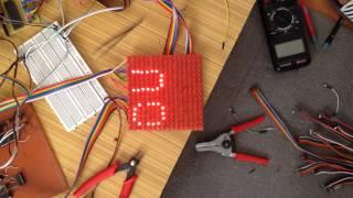 16X16 led matrix display