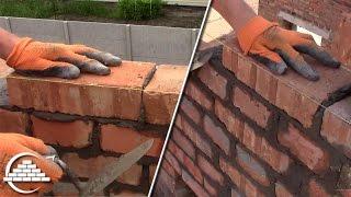 видео Кладка стен в один слой