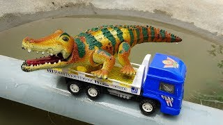 Dump truck, crane truck, excavator, giant crocodile - H711C Toys for kids