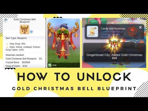 How To Unlock Gold Christmast Bell Blueprint Ragnarok Mobile Eternal Love Youtube