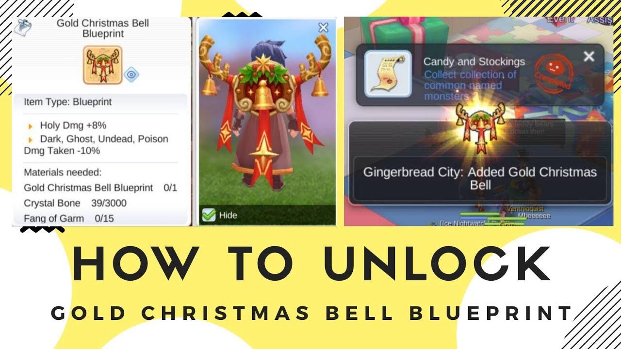 HOW TO UNLOCK GOLD CHRISTMAST BELL BLUEPRINT RAGNAROK MOBILE ETERNAL LOVE