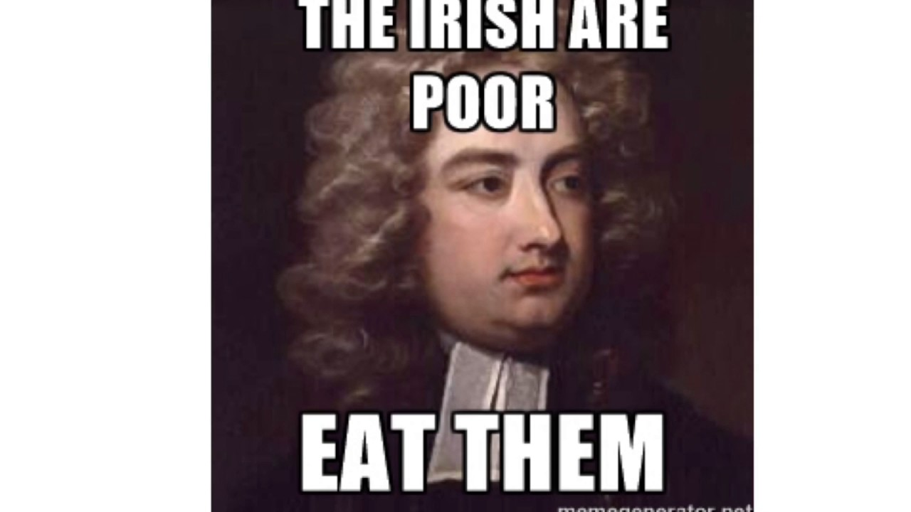 jonathan swift a modest proposal essay crash course  jonathan swift a modest proposal essay crash course