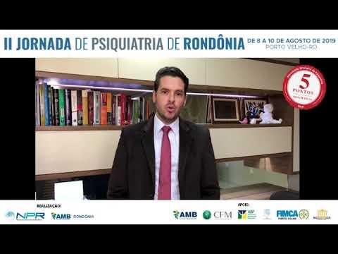 Convite para participação da II Jornada de Psiquiatria de Rondônia
