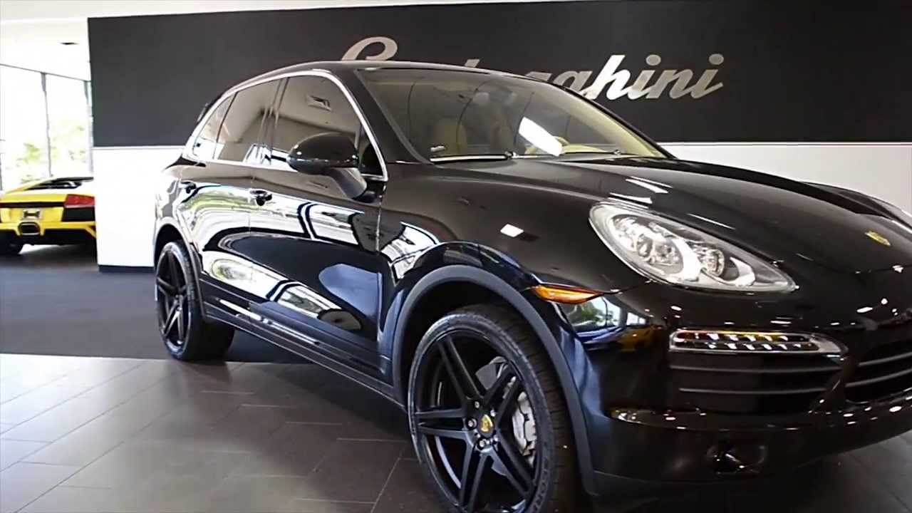 Carfax Report Free >> 2011 Porsche Cayenne S Gloss Black LT0552 - YouTube