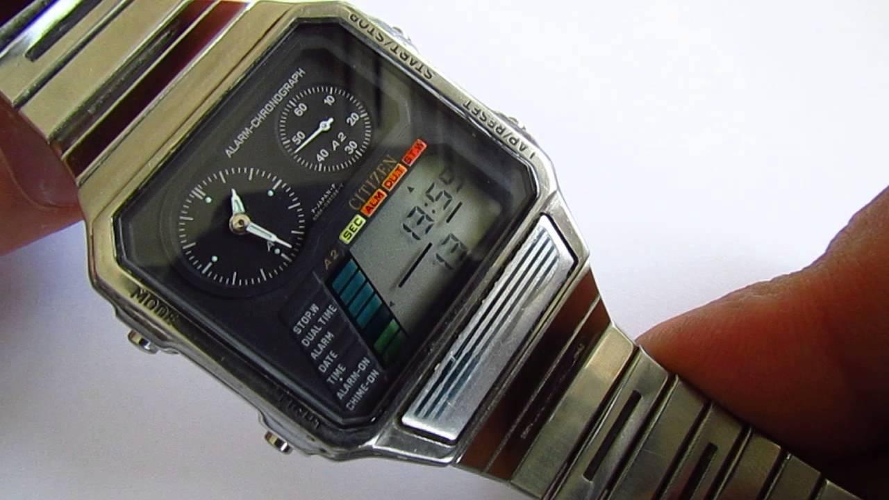 db5f5032963 Citizen 8986 087062Y Alarm Chronograph Wristwatch. vintage watches