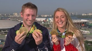Rio 2016: Laura Trott 'can't deal' when fiance Jason Kenny competes