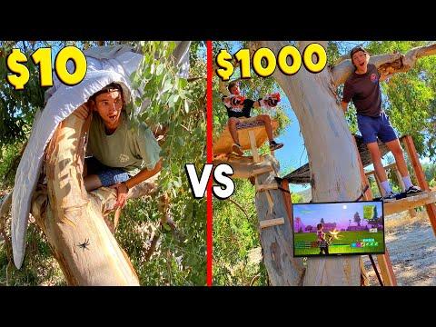 $10 VS $1000 TREE HOUSE! *BUDGET CHALLENGE*