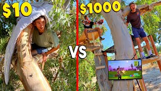 $10 VS $1000 TREE HOUSE! *BUDGET CHALLENGE*