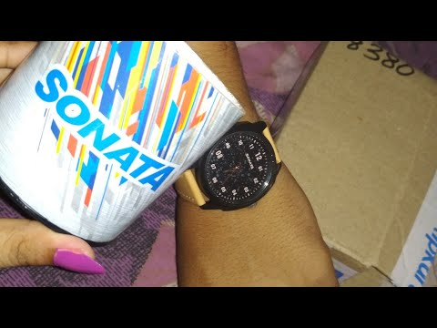 Sonata watch unboxing with price