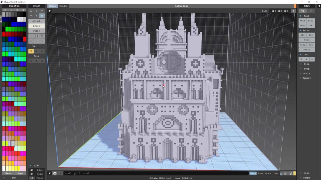 MagicaVoxel: Building a Cathedral