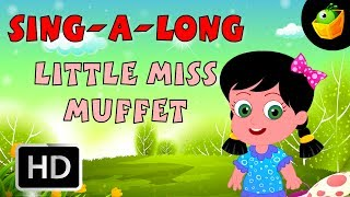 Karaoke: Little Miss Muffet - Songs With Lyrics - Cartoon/Animated Rhymes For Kids