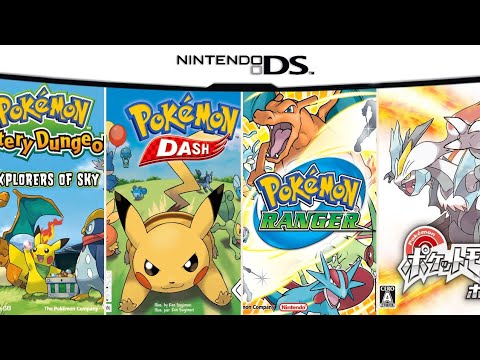 All Pokemon Games In DS