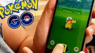 EN BUSCA DE PIKACHU CON GORRA DE ASH!! Pokemon Go EN LA TORMENTA