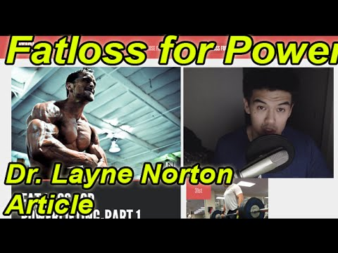 Fat loss weight loss for powerlifting article by Layne Norton at JTS strength
