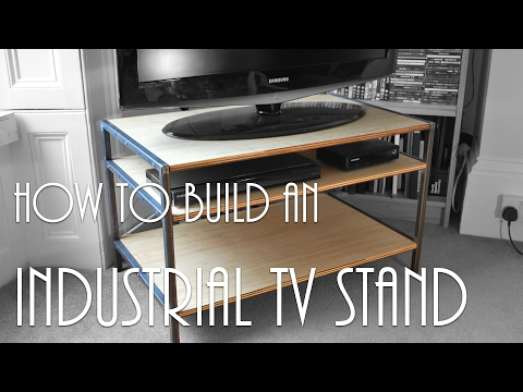 ►Luke Makes an Industrial TV Stand | How To | Part One (of Two)◄