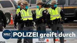 CORONA-CHAOTEN: Klare Regeln - US-Polizei und Nationalgarde greift hart durch