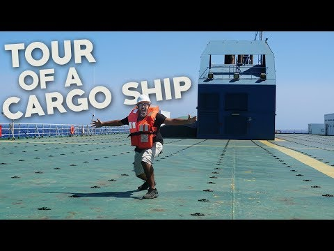 TOUR OF A CARGO SHIP- Grimaldi Grande Mediterraneo - Cargo Ship Travel Maritime