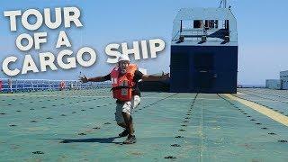 CARGO SHIP TOUR! - Grimaldi Grande Mediterraneo - Cargo Ship Travel Maritime