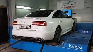 Ауди А6 С7 на дино стенде/Audi A6 C7 3.0tfsi