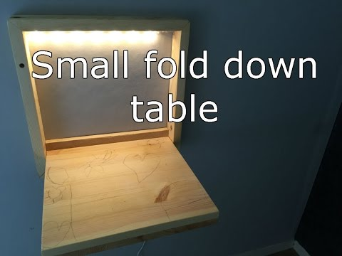 Small Fold Down Desk With LED-light.
