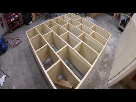 DIY shelf unit.  Baltic birch plywood construction.  Clear pine trim.