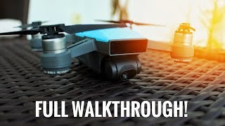 DJI SPARK COMPLETE WALKTHROUGH AND SETTING UP